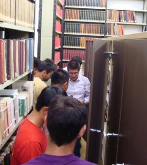 Visita a el Archivo Claret (junio de 2016, Foto Ricard Oliva).