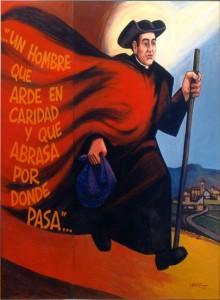 José Beruete, cmf. Óleo sobre tabla, 2003. Barbastro.