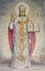 Estudio del mosaico Vaticano. 1962  Real Iglesia de San Pablo, Córdoba.