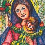 Santa María del Buen Humor. Pintura del P. José Mª Viñas.
