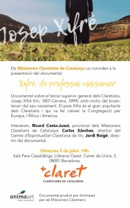 presentation of the documentary xifré missionary as a profession